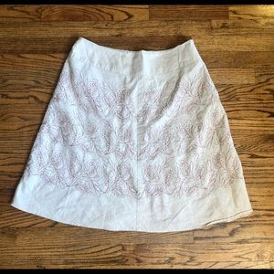 Beautiful cream colored skirt with pink flowers